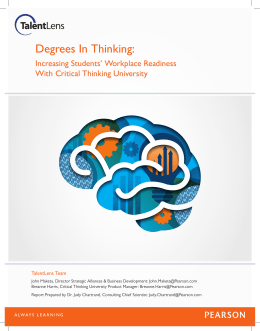 Degrees In Thinking