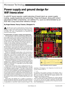 Power supply and ground design for WiFi transceiver