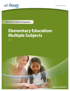 Elementary Education: Multiple Subjects