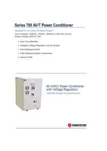 Series 700 AV/T Power Conditioner