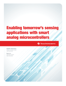 Enabling tomorrow`s sensing applications with smart analog