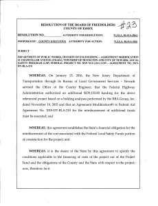 WHEREAS, On January 13, 2016, the New Jersey Department of