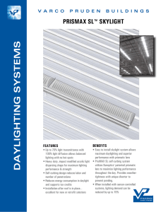 DAYLIGHTING SYSTEMS - Varco Pruden Buildings