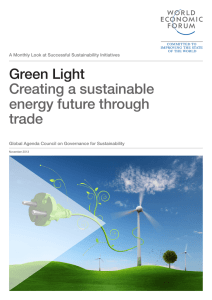 Green Light Creating a sustainable energy future through trade