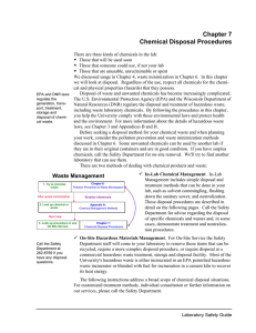 Chapter 7 Chemical Disposal Procedures