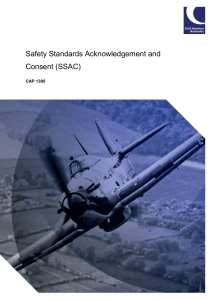 Safety Standards Acknowledgement and Consent (SSAC)