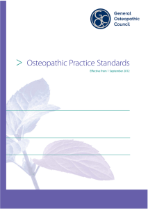 Osteopathic Practice Standards