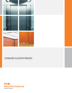 Standard Elevator Finishes - Motion Control Engineering