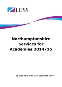 Northamptonshire Services for Academies 2014/15