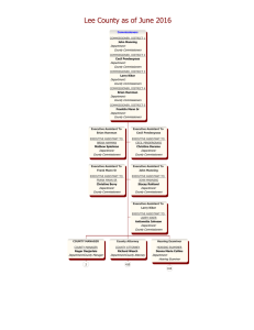 Complete Lee County Organizational Chart