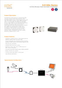 MiniLink 5GHz Technical Specification