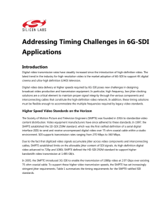Addressing Timing Challenges in 6G-SDI Applications