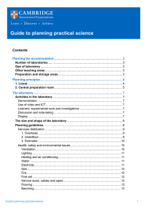 Guide to planning practical science