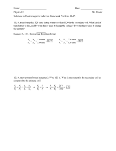 Solutions to Electromagnetic Induction Problems 11-15