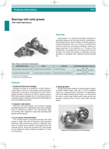 Bearings with solid grease