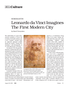 Romorantin: Leonardo da Vinci Imagines the First Modern City