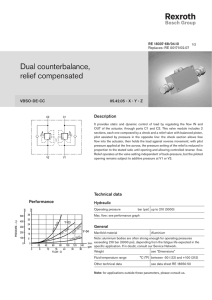 Dual counterbalance, relief compensated