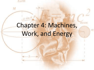 Chapter 4: Machines, Work, and Energy