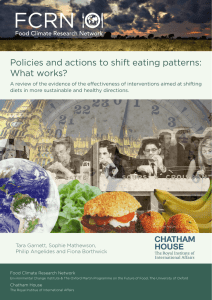 Policies and actions to shift eating patterns