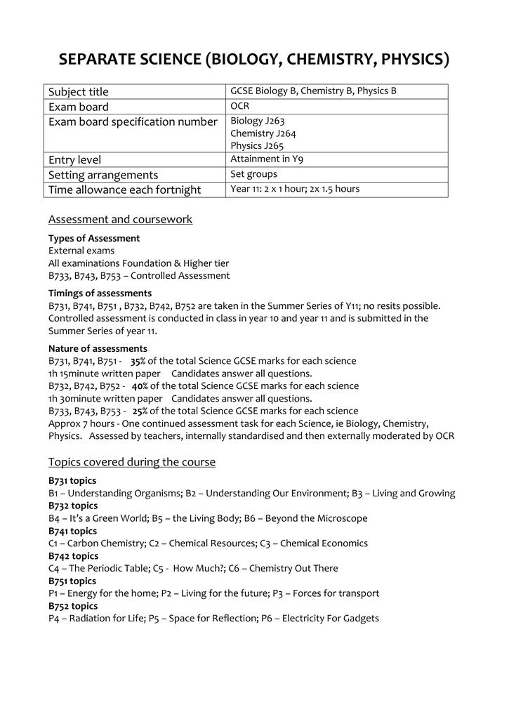 Science coursework b help