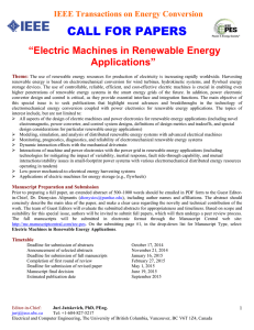 Electric Machines in Renewable Energy Applications