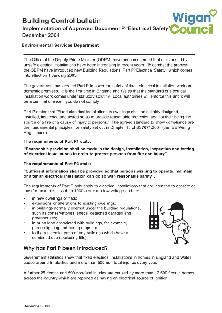 Electrical safety in dwellings on