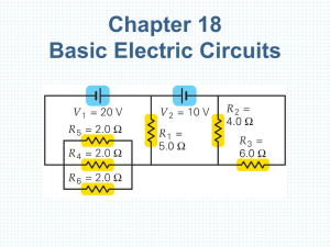 Chapter 18 Basic Electric Circuits
