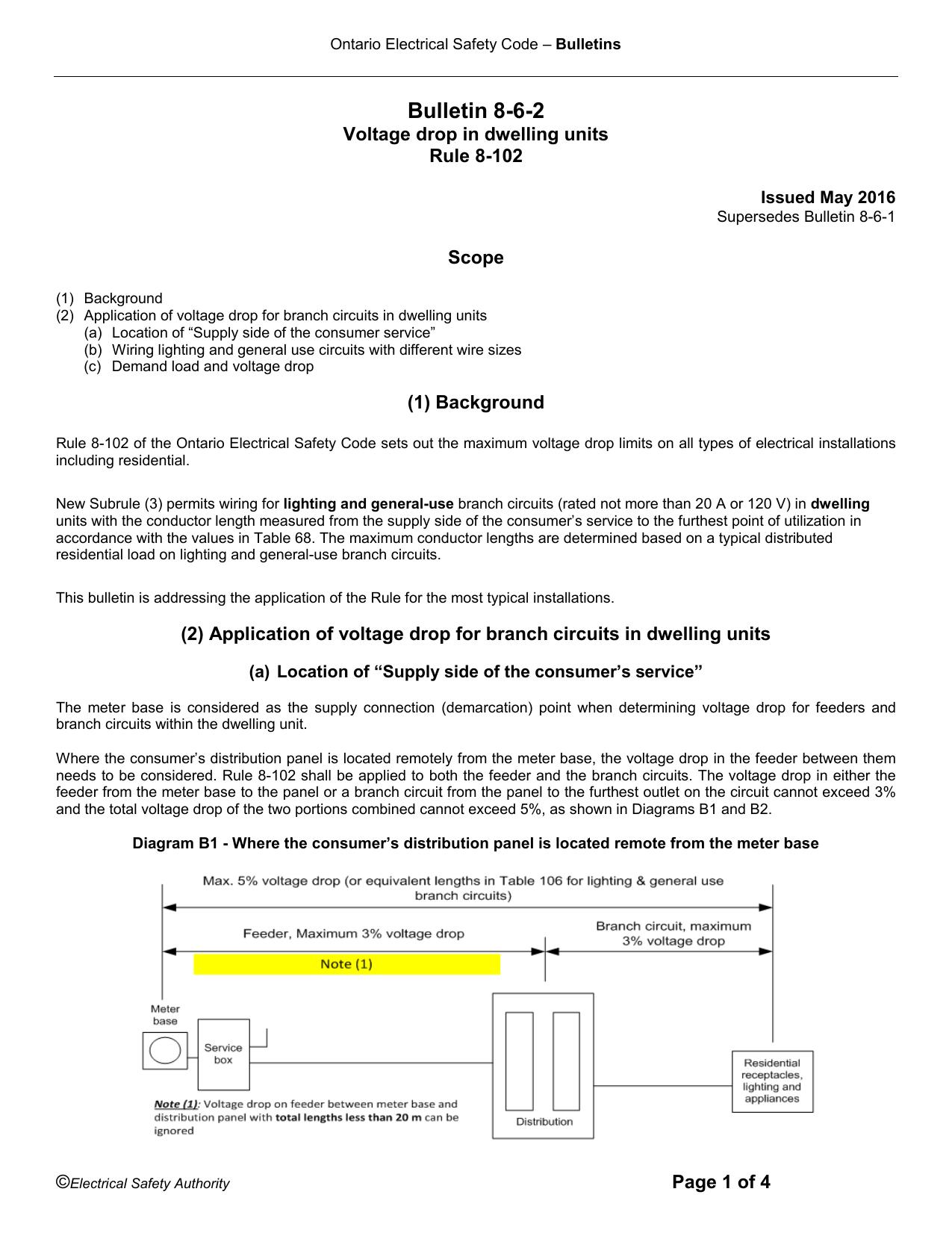 8 6 Voltage Drop In Dwelling Units Shop Distribution Panel Wiring Diagram