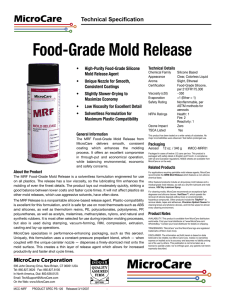 Food-Grade Mold Release
