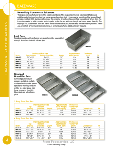 a SPEC SHEET - Minot Restaurant Supply