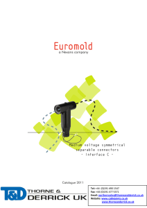 400 Series Interface C Nexans Euromold Cable Connectors HV