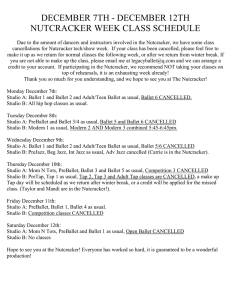 Nutcracker Show Week Class Cancellation List