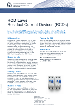 RCD Laws Residual Current Devices (RCDs)