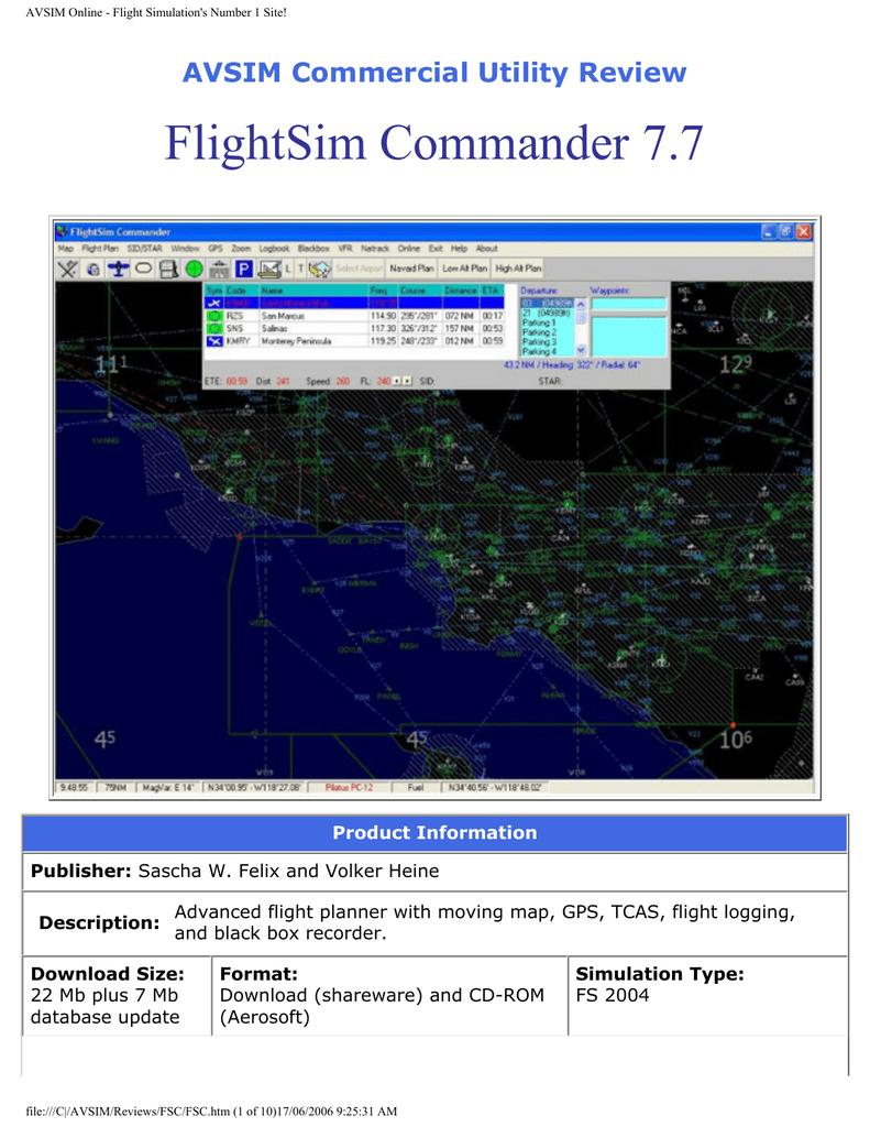 AVSIM Online - Flight Simulation`s Number 1 Site!