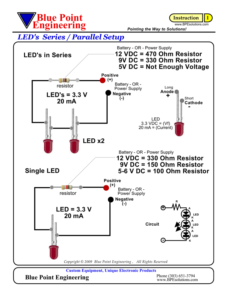led resistor calculations rh studylib net Resistors in Seres to Get 470 Ohm 1 350 Ohm Resistor Color Code