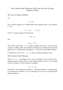The Central Limit Theorem (CLT) and the Law of Large Numbers
