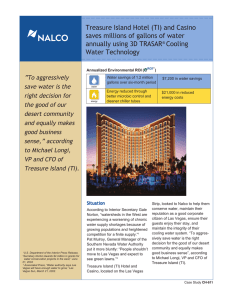 Treasure Island Hotel (TI) and Casino saves millions of