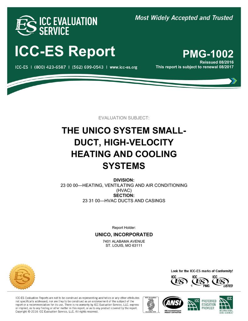PMG-1002 - ICC-ES PMG Listing Program