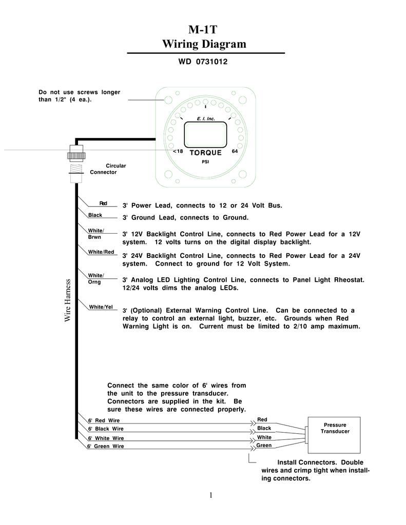 M 1t Wiring Diagram Buy