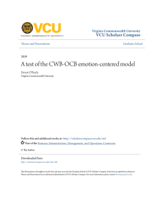 A test of the CWB-OCB emotion-centered model