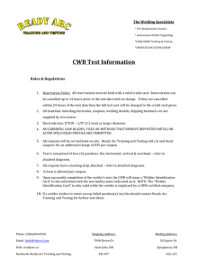 CWB Test Information - ReadyArc Training and Testing