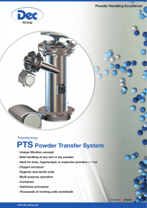 PTS Powder Transfer System