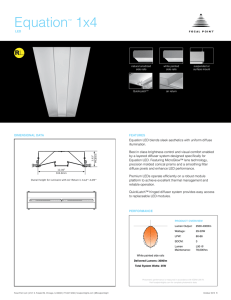 Equation™ 1x4 - Focal Point Lights