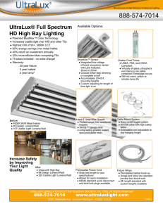 Manufacturers of High Definition Full Spectrum Lighting