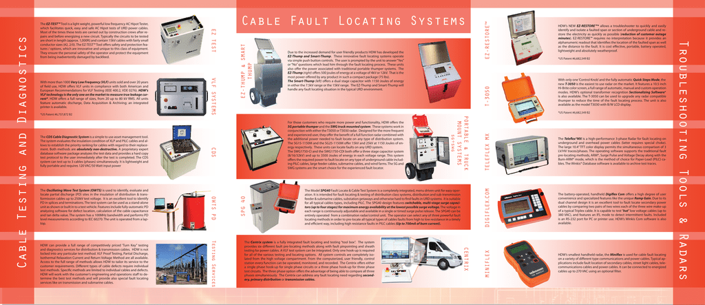 Cable Fault Locating Systems - powertech
