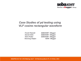 Case Studies Of PD Testing using Cosine Rectangular Waveforms