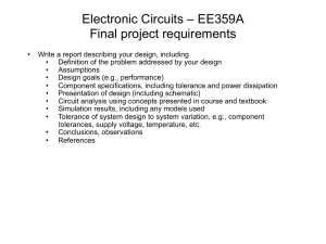 Electronic Circuits – EE359A Final project requirements