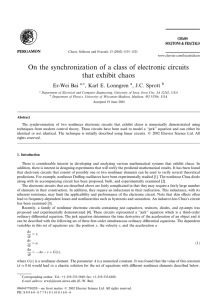 On the synchronization of a class of electronic circuits that exhibit