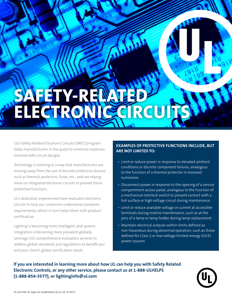 Safety Related Electronic Circuits Industries Functions Of Integrated Circuit