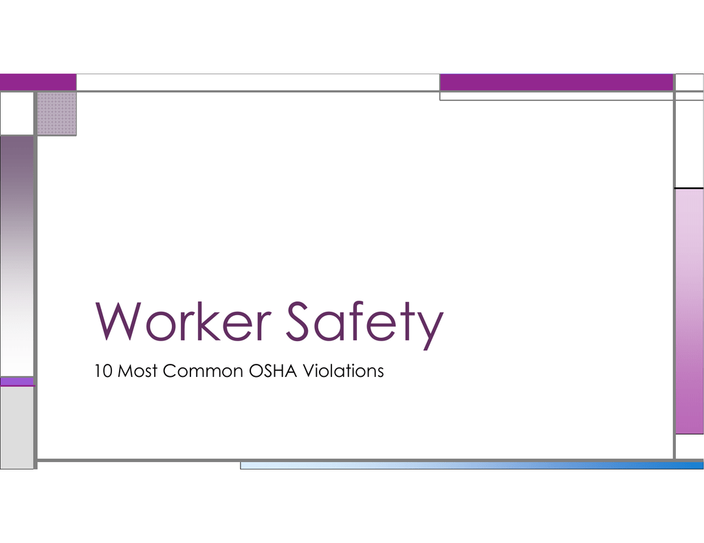 Common Safety Issues PowerPoint